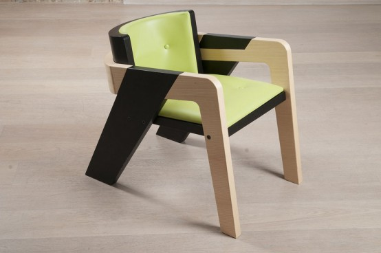 Elegant Self-Assembly IO Chair From Two-Toned Wood - DigsDi