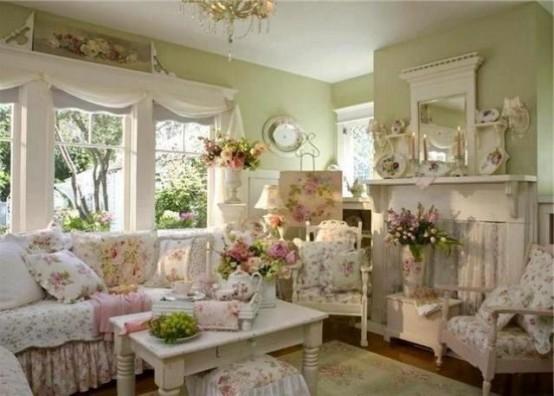 37 Enchanted Shabby Chic Living Room Designs - DigsDi