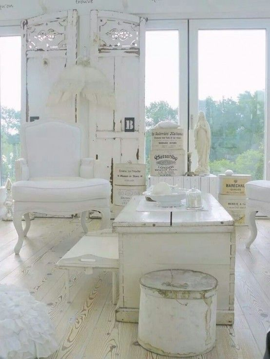37 Enchanted Shabby Chic Living Room Designs   Shabby chic room .