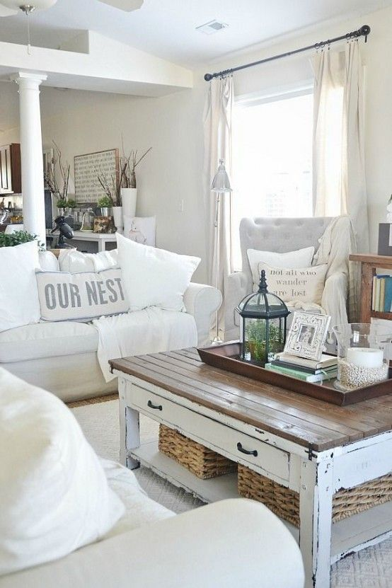 37 Enchanted Shabby Chic Living Room Designs   Farmhouse decor .