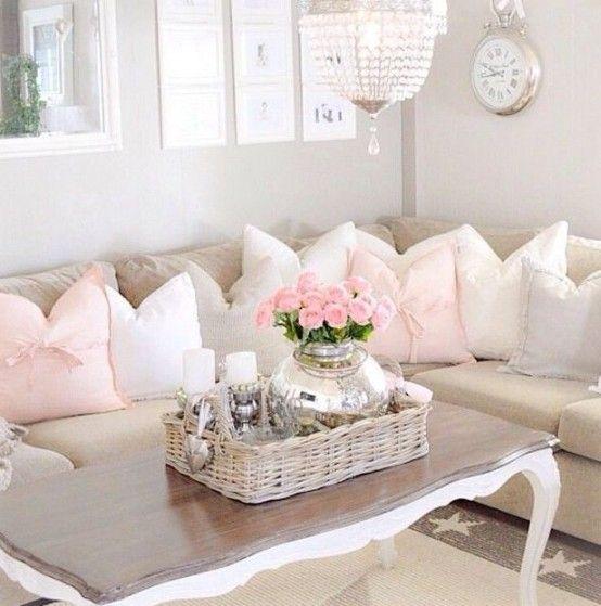 37 Enchanted Shabby Chic Living Room Designs   Chic living room .