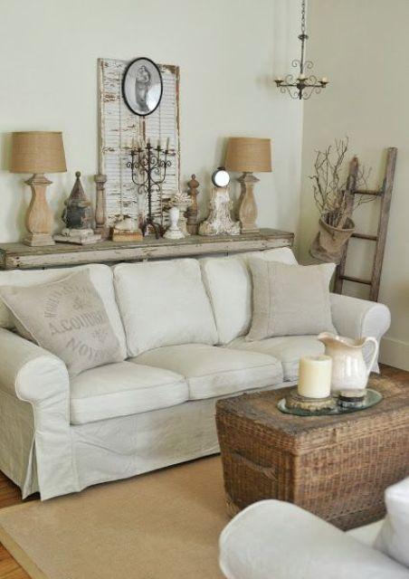 37 Enchanted Shabby Chic Living Room Designs   DigsDigs   Otthon .