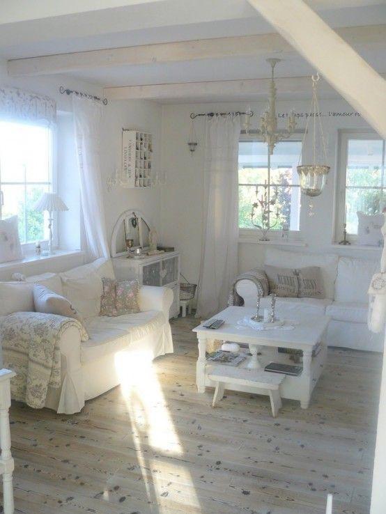 37 Enchanted Shabby Chic Living Room Designs   Shabby chic living .