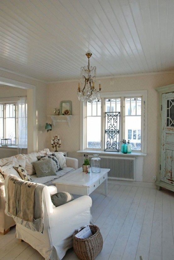 37 Enchanted Shabby Chic Living Room Designs   Shabby chic decor .