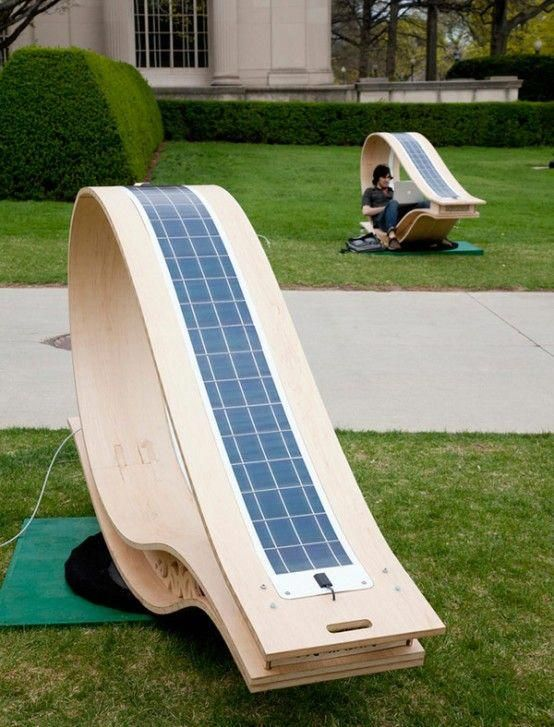 Energy-Effective Lounge Chair To Charge Your Devices | DigsDigs .
