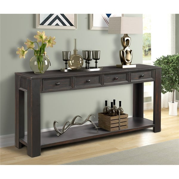 Shop Console Table for Entryway Hallway Sofa Table with Storage .