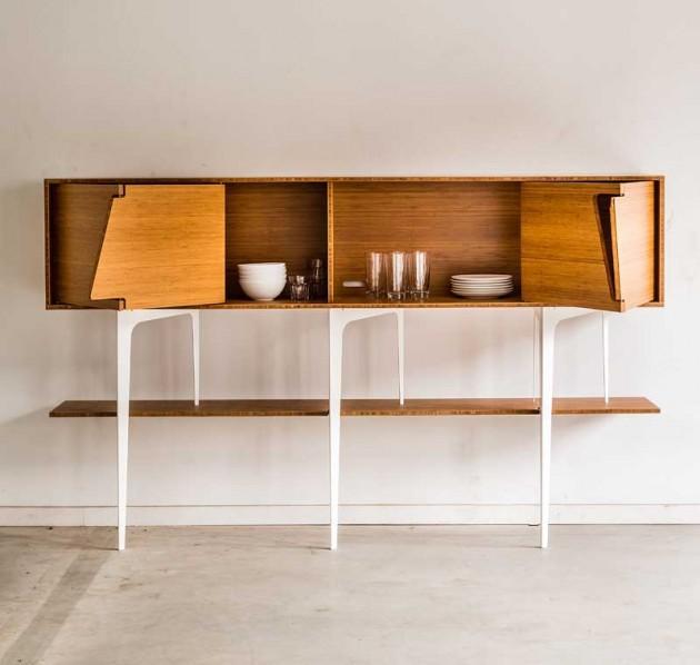 Minimalist Neus Sideboard With Asymmetrical Doors - Interior .