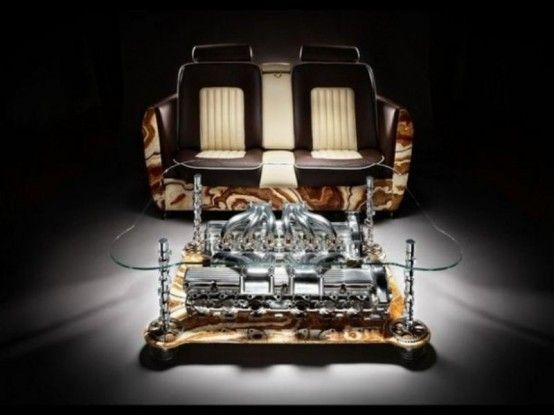 Unique Coffee Tables And Sofas Made Of Car Parts For The Man Cave .