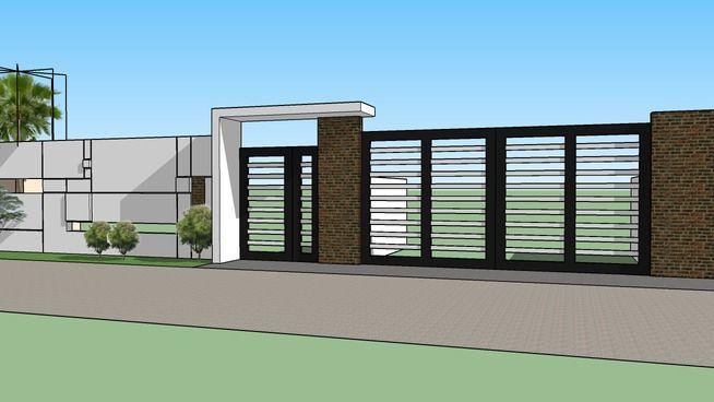 Modern gate | Modern fence design, Modern gate, House gate desi