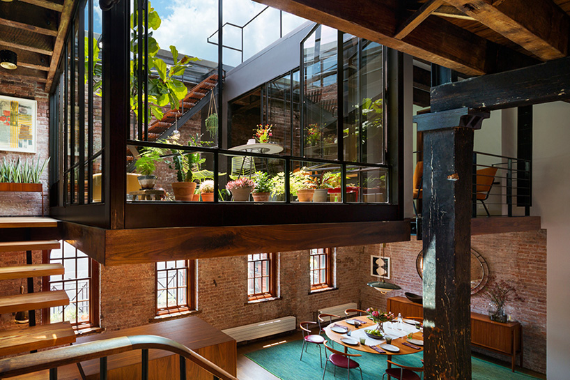 Old Warehouse Turned Into A Loft With Interior Court And Glass Ro