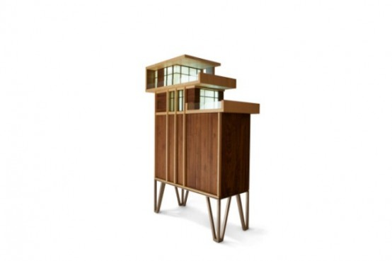 Eye-Catching Penthouse Cabinet Nodding To Mid-Century Architecture .