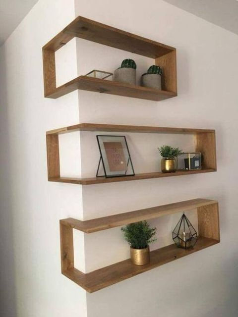 outer corner box-style shelves look very eye-catchy and allow .