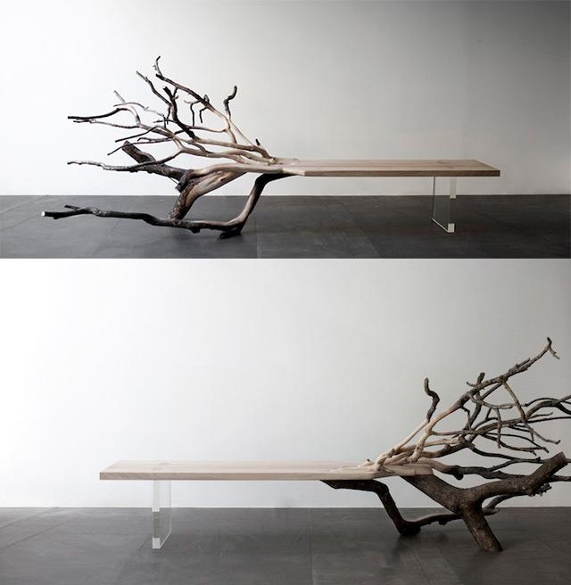 Fallen Tree Bench by Benjamin Graindorge | Coloss