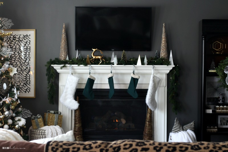 Our Christmas Family Room [Neutrals, Metallic & a Touch of Green .