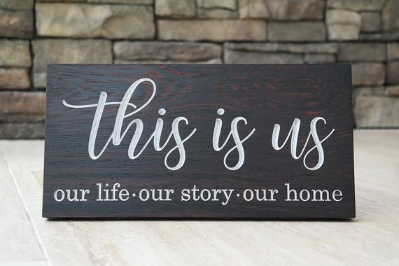 Engraved This is Us Home Decor Family Housewarming   Et