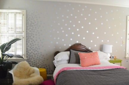 Polka Dot walls - Touch of Paint: 25 DIYs for the Home   Home .