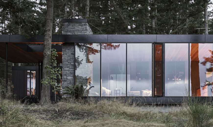 Rugged Landscape of Whidbey Island Houses this Rustic Family Retre