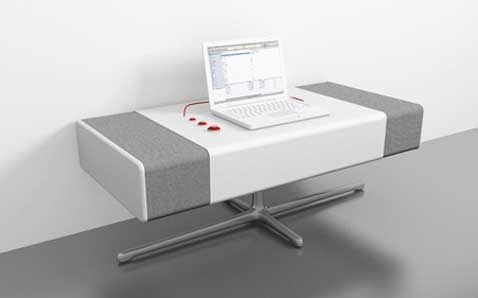 AMP Speaker Is So Big it Doubles as a Desk | Speaker design, Desk .
