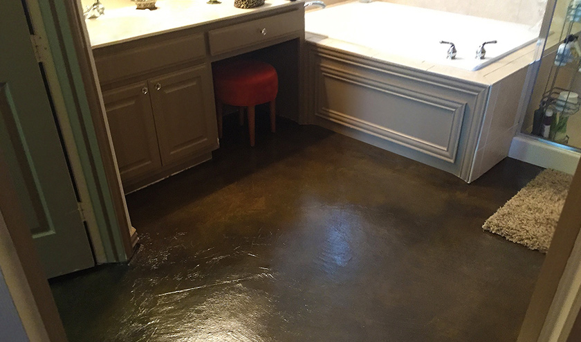 Stained Concrete Basement Floor | Concrete Cra