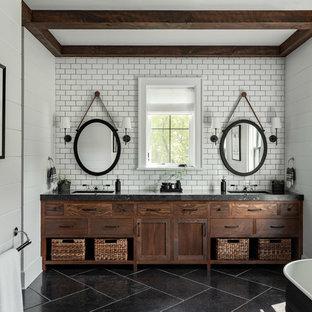 75 Beautiful Subway Tile Bathroom With Concrete Countertops .