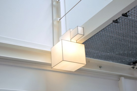 Flexible And Minimalist Cubic Ceiling Lamps - DigsDi