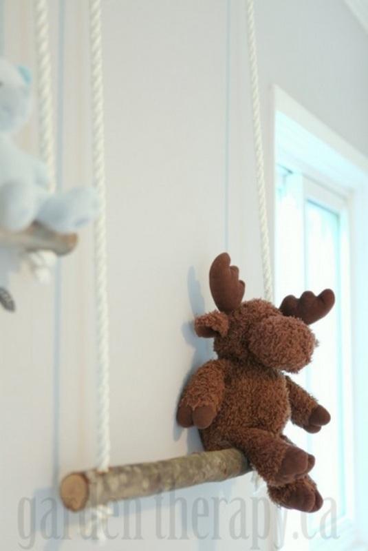 Eco-friendly DIY Branch Swing Shelves   Kidsoman