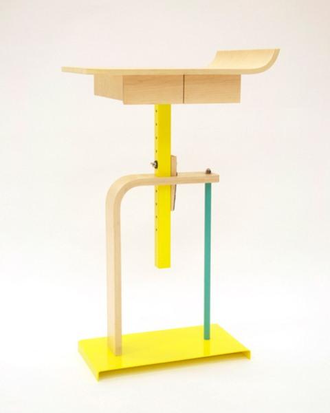 Flexible Industrial Platform Side Table - DigsDi