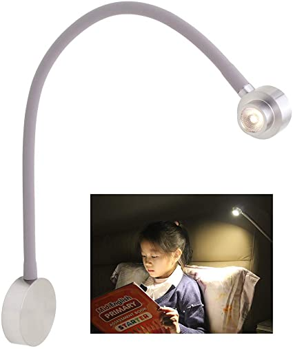 acegoo Bedside LED Reading Light Dimmable Bedroom Wall Lamp .