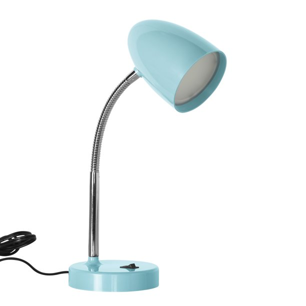 Mainstays LED Desk Lamp, Flexible Metal Gooseneck, Mint - Walmart .