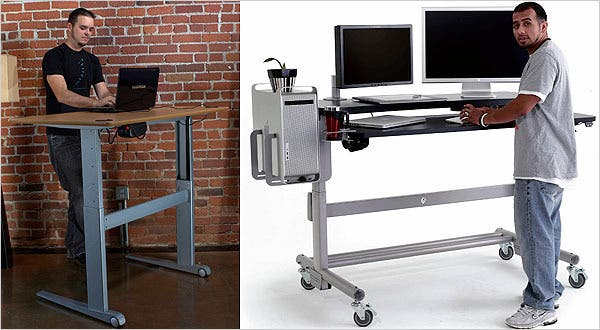 A Desk That Allows You to Stand or Sit - The New York Tim