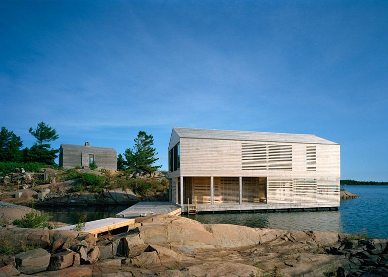 Named Floating House, this building provides a summer residence on .