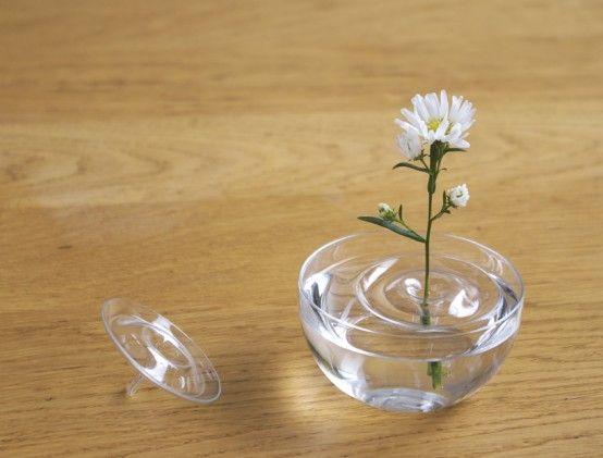 Floating Ripple Vases By ooDesign   DigsDigs   Flower vase design .