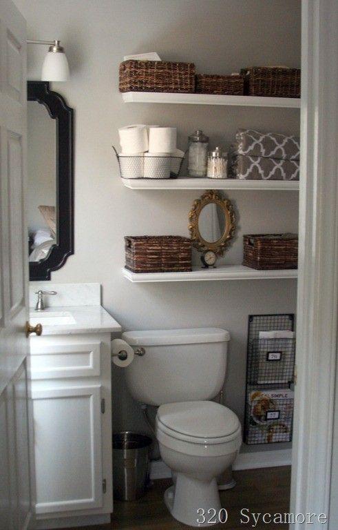 21 Floating Shelves Decorating Ideas - Decoholic   Small bathroom .