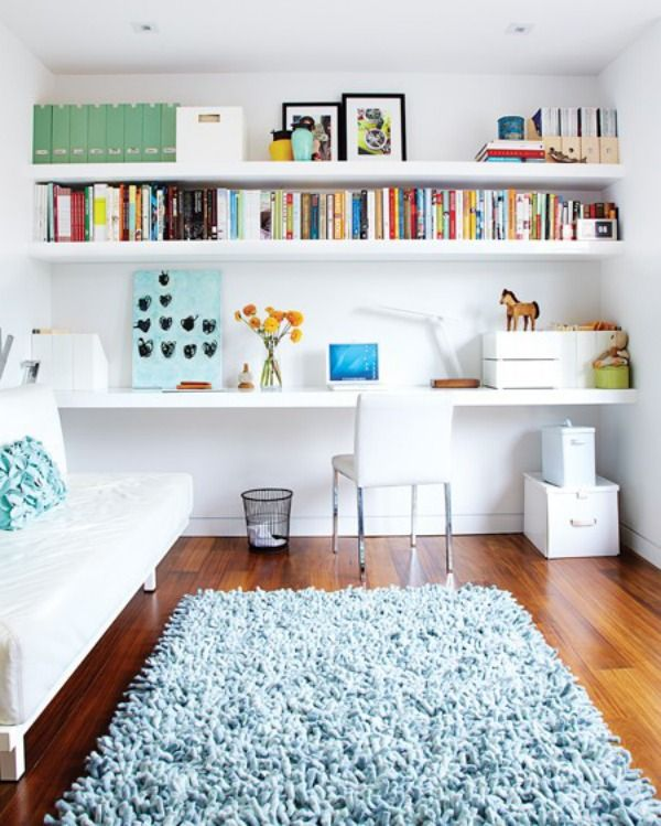 19 Floating Shelves Ideas For a Beautiful Home   Home office .