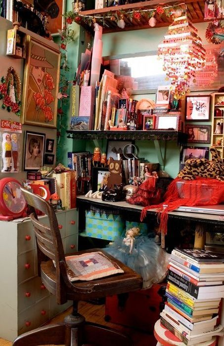 40 Floppy But Refined Boho Chic Home Office Designs | Small room .