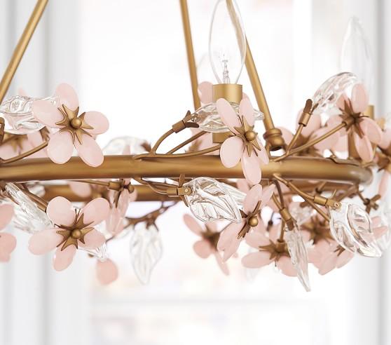Grace Flower Nursery Chandelier | Pottery Barn Kids | Flower .