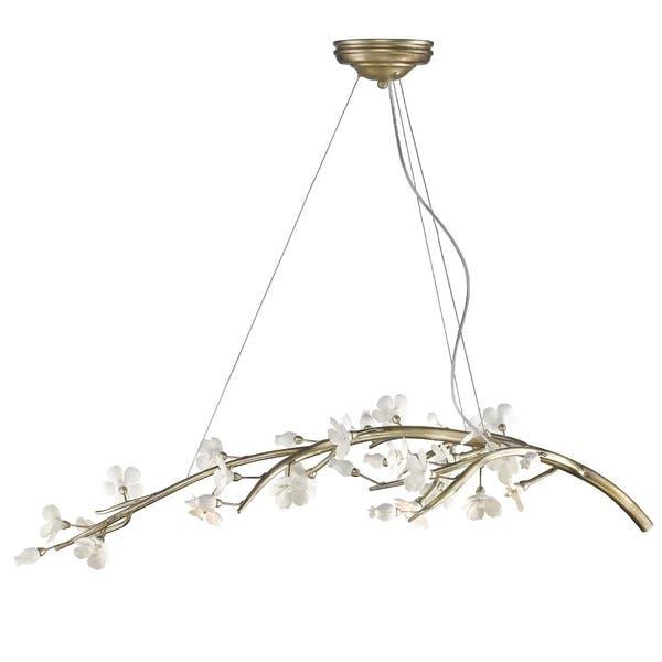 Shop Golden Lighting #9942-7 SL Aiyana Silver-leaf Finish Steel .