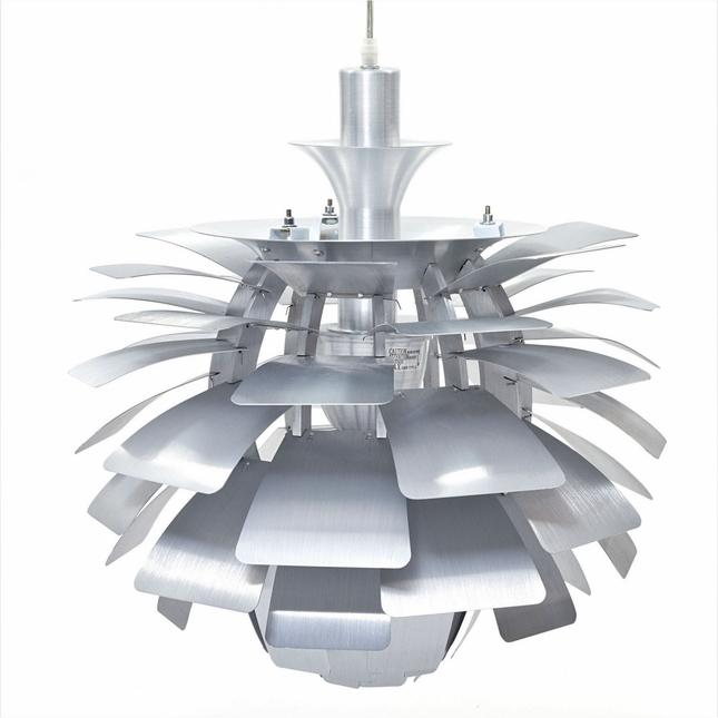 "Petal Contemporary Flower-inspired 24"" Pendant Chandelier, Silv"