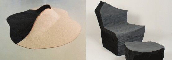 Foam Furniture And Mountain-Inspired Chair By Susan Qiu - DigsDi