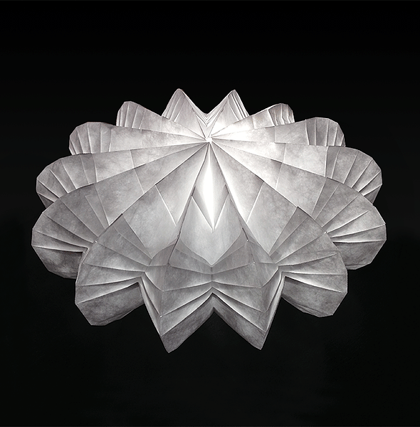 Folded Light Art Coralina | Origami lamp, Paper lamp, Bedroom .