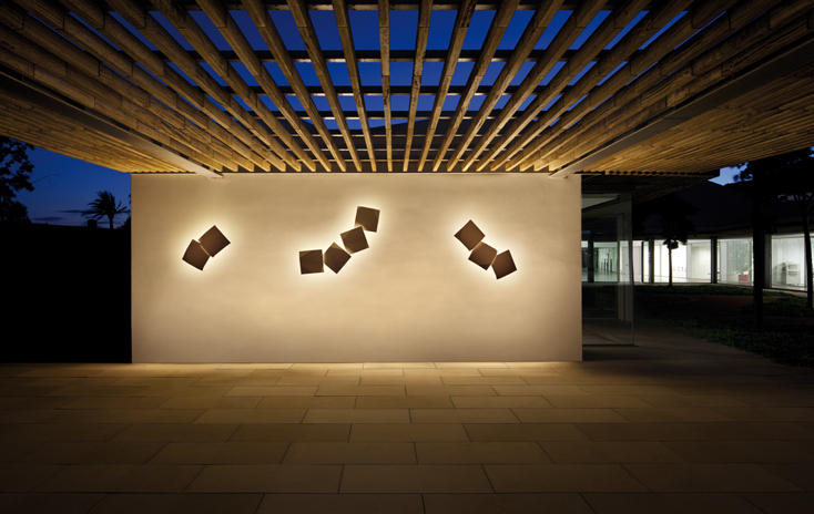 Origami, folded light compositions - Vib