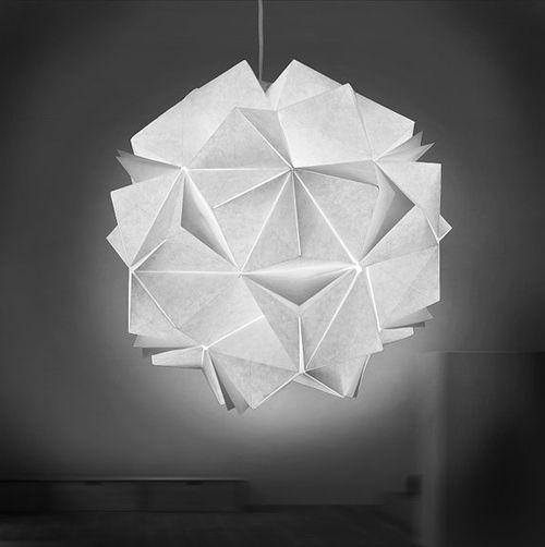 Folded Light Art By Jiangmei Wu | Origami lights, Origami light .