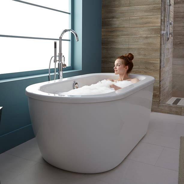 Cadet Freestanding Tub - A relaxing, deep soak with beautiful .