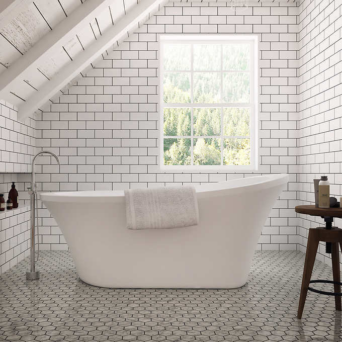 OVE Decors Natalie Freestanding Tub with Athena Fauc