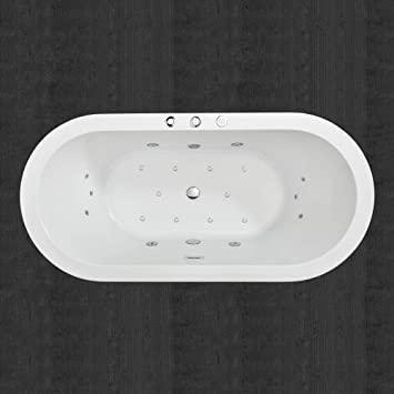 "WOODBRIDGE White 67"" Acrylic Freestanding Bathtub Contemporary ."