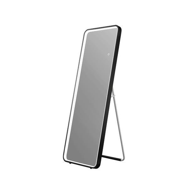 Shop OVE Decors Lyon 20 in. Matte Black Freestanding Mirror .