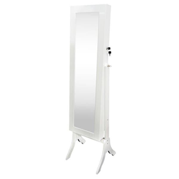 Shop White Wood-framed Full-Length Freestanding Mirror and Jewelry .