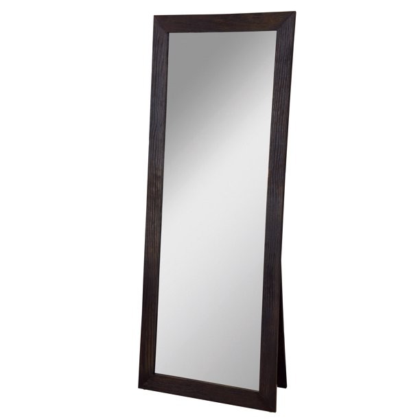 "Freestanding Cheval Floor Cheval Mirror Espresso 72"" x 28"" by ."