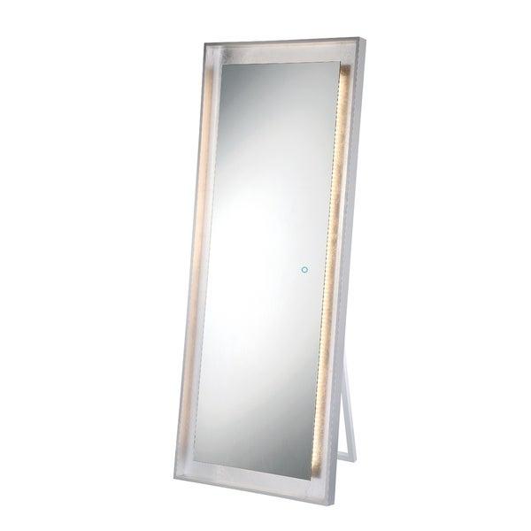 Shop Eurofase Silver Leaf Edge Lit LED Freestanding Mirror - 33834 .