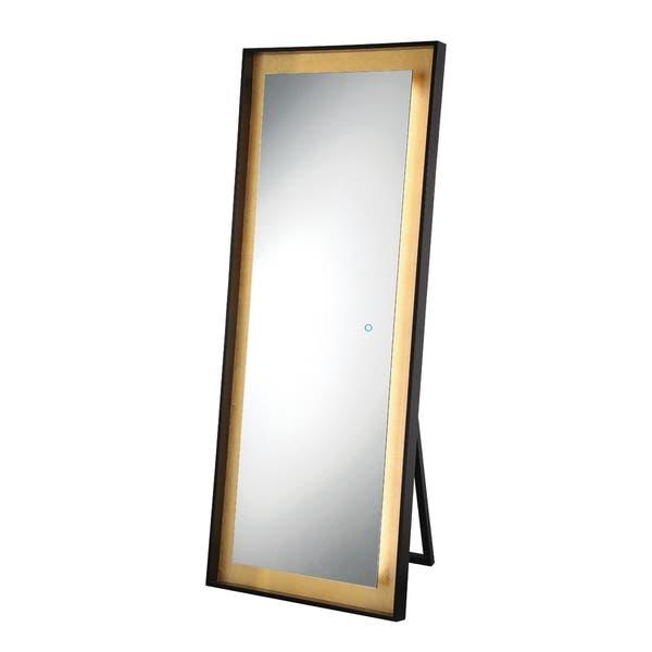 Shop Eurofase Gold Leaf Edge Lit LED Freestanding Mirror - 33833 .
